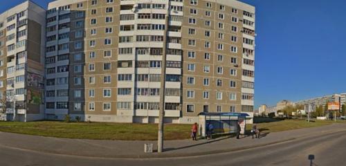 Панорама остановка общественного транспорта — Остановка автобуса — Могилёв, фото №1