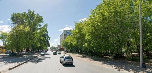 Панорама остановка общественного транспорта — Улица Мориса Тореза — Самара, фото №1