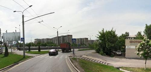 Панорама остановка общественного транспорта — Abay - Sain — Алматы, фото №1